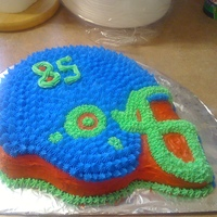 Helment Cake i made this cake for a friends son