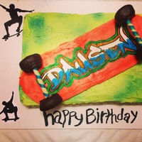 White Cake Buttercream Frosting Used Wilton Color Mist On The Cake The Skateboard Deck Is Fbct The Graffiti Writing Is Wilton Sugar Sheet White cake. Buttercream frosting. Used wilton color mist on the cake. the skateboard deck is FBCT the graffiti writing is wilton sugar...