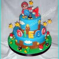 Torta Decorada De Mario Bros