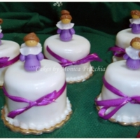 Mini Cakes / Tema Angelitos De Bautismo
