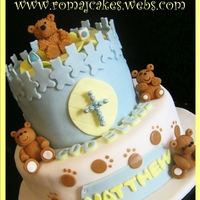 Teddy Bears Christening Cake