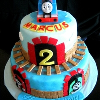 Thomas The Train Birthday Cake   a cake for my nephew's 2nd birthday:)