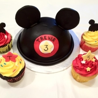 Mickey Mouse Ears W/ Matching Cupcakes Mickey ears with matching 4 dozen cupcakes