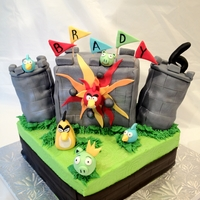 Angry Birds Castle Angry Birds Castle for the cutest 6 yr old little boy. Everything is edible and the castle is ALL CAKE! No RKT! Cake design inspired by...
