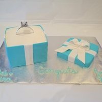 Tiffany Ring Box Tiffany Ring box cake for engagement party