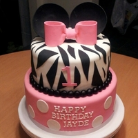 Minnie Mouse Zebra