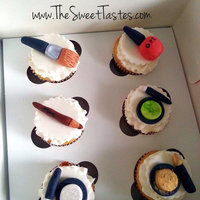 Make Up Cupcakes Toppers All Edible And Hand Made Make up Cupcakes toppers .All edible and hand made