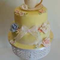 Tea Cup Shower Cake All Edible And Handmade Tea Cup Shower Cake ,All Edible and Handmade.