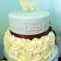 Baby Shower Roses Tier Cake   Baby Shower Roses tier cake