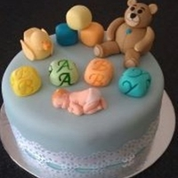 Cute And Cuddly Baby Shower Cake