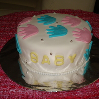 Baby Shower Cake I made this as a gift for a friend who didn't know if she was having a girl or a boy.