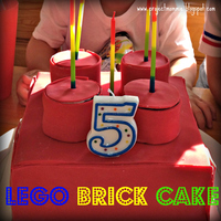 Lego Brick Cake  I made this square cake into a Lego brick for my son's 5th birthday party. It's two layers baked in a square pan, then I baked an...