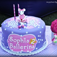 Angelina Ballerina Cake  I made this cake for my friend's daughter who is turning 2 yrs old. This is the first time I've ever molded a licensed character...