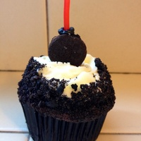 Mini Bomb Cupcake Rolled In Crushed Oreos Mini-bomb cupcake - rolled in crushed Oreos
