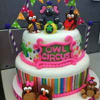 I Love Owls And Carnivalscircus So Why Not Combined Them A Cake For My Good Friends Birthday And She Cried When She Received It The Cak  I love owls and carnivals/circus so why not combined them! A cake for my good friend's birthday and she cried when she received it....