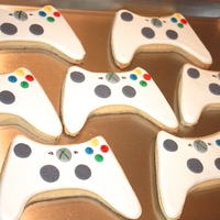 Xbox Remote Cookies   Made these as party favours fora 9 yr old birthday party