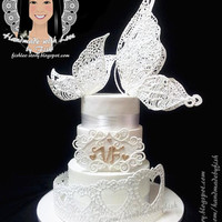 Wedding Cake White Butterflies Wedding Cake ...