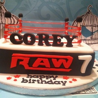 Wrestling Cake For My Nephew Wrestling cake for my nephew