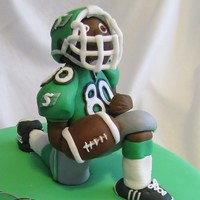 Saskatchewan Roughrider Fondant Football Player