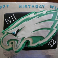 Eagles Birthday Cake A birthday cake for my 12 yr old who is an avid Eagles fan