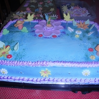 Tinkerbell Cake.   Vanilla and Chocolate cake