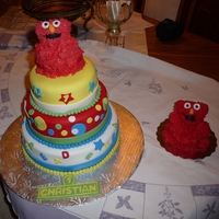 Elmo Cake   She sent me the pic of the cake not sure if its from CC or not. So if it is Thank you for the IDEA! :)