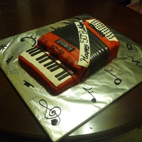 Accordion Cake This cake was made for a friends 50th it replicates his accordion.