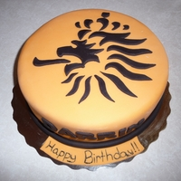 Dutch Soccer Team Cake