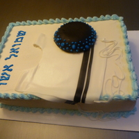 Upshernish Cake buttercream, fondant tzizis and kipah, RI letters