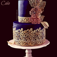 Lace Me Up! Sugar lace decorated cake.