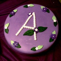 Basic Birthday Cake Simple Purple Birthday Cake with simple flowers