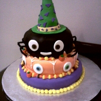 Ick The Spider Has Eyes Out For Anyone Trying To Steal His Candy! This is a fun cake that I did to go with a mixed theme for my office Halloween party.... we had odds and ends of things left over from...