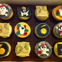 Ahoy There   Cupcakes for an adult pirate party