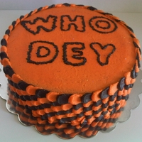 Bengals Whodey   Non traditional team inspired cake