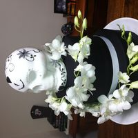 Sugar Skull Wedding Cake