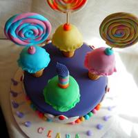 Ice Cream Rainbow Themed Birthday Cake *Ice cream rainbow themed birthday cake