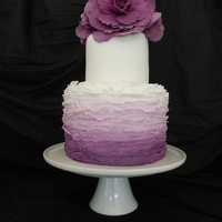 Purple Ombre Cake Two tier purple ombre Cake
