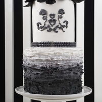 Black & White Ombre Fashion Inspired Cake - Featured In Cake Central Magazine