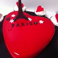 Red Heart Big Shiny Red Heart Cake