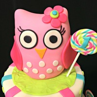 Pink Baby Owl Cake Topper Made From Rkt Pink baby owl Cake topper made from RKT