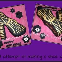 Zebra Print `blinged` Shoe