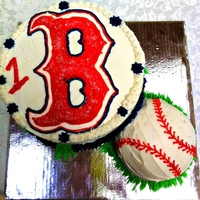 Red Sox Cake for a 1 year old's birthday