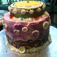 Lemonade Mouth, Hippie Print Cake