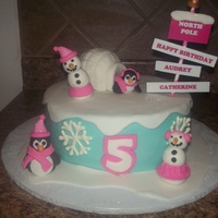 Winter Wonderland This little girl wanted a winter wonderland cake for her birthday. It was a lot of fun to make. The snowladies and penguins are made from...