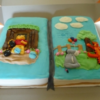 Winnie The Pooh Book Cake Everything is edible and made from fondant