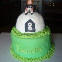 Soccer Themed Cake Soccer themed cake, all edible. Made with mm fondant