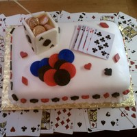 Texas Hold Em Cake Just started doing fondant. Tried my hand at some candy to.