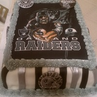 Raiders Cake For my sons birthday.