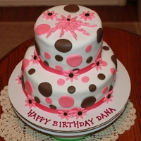 Polka Dot Birthday Cake Made for a friends Birthday.