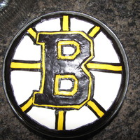 Boston Bruins Birthday Cake This was the second cake I made this day...it's a birthday cake for my cousin who is a big Bruins fan...irronically the first cake I...